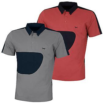 Wolsey Mens Colour Block  Lightweight Moisture Wicking Golf Polo Shirt