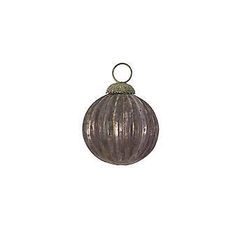 Lys & Levende Jul Bauble 7.5cm Ball Glass Okse Aubergine