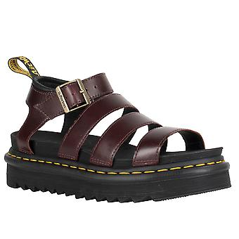 Womens Dr Martens Blaire Charro Leather Cut Out Open Toe Strappy Sandals
