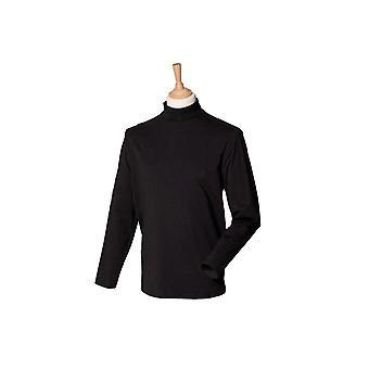 Henbury long sleeve roll neck top hb020