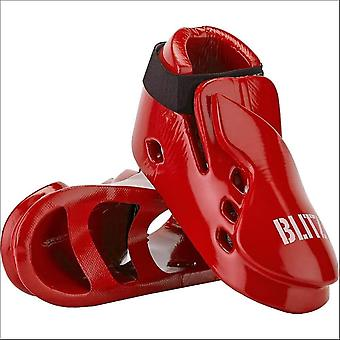 Blitz sports double padded dipped foam foot guards - red