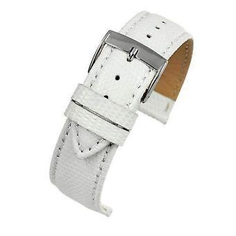 Echte Italiaanse hagedis horloge riem wit formaat 14mm tot 20mm