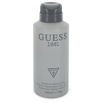 Gjett 1981 ved Guess Body Spray 5 oz / 150 ml (Menn)