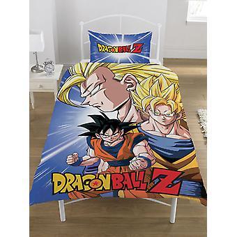 Dragon Ball Z Batalla Funda de un solo edredón y Pillowcase Set