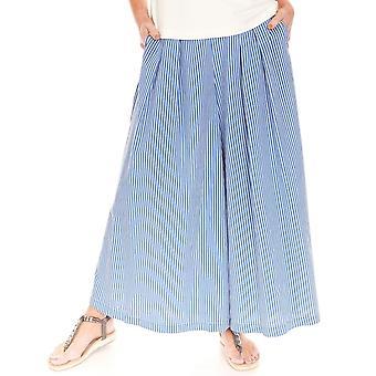 LATTE Latte Blue And White Culottes GO5015