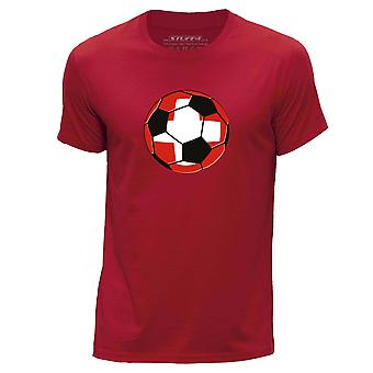STUFF4 Hommes rond Neck T-shirt-T-Shirt/Suisse Football/rouge