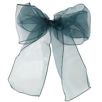 17cm x 274cm Organza Table Runners Wider et Fuller Sashes Teal Green