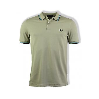 Fred Perry Twin Tipped Polo Shirt (Light Sage)