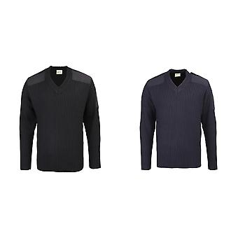 RTY Workwear Mens Security Style V-Neck Sweater