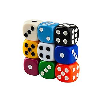 Six-sided dice, 100th-Multicolor