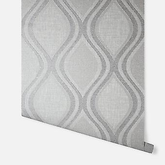 295101 - Curve Grey - Arthouse Wallpaper