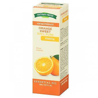 Nature's truth 100% pure essential oil, orange sweet, 15 ml