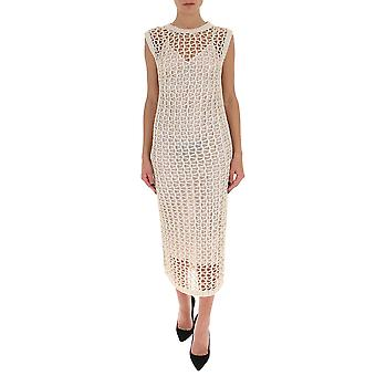 Gentry Portofino D538srg0011 Women's White Cotton Dress