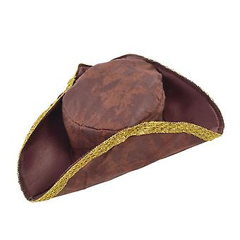 Tricorn Hat. Brown nødstedte look