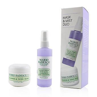 Mario Badescu Lavendel Masker & Mist Duo Set: Flower & Tonic Mask 2 oz + Facial Spray With Aloe, Kamille en Lavendel 4oz 2pcs