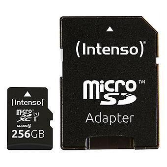 Micro SD Memory Card with Adaptor INTENSO 3423492 256 GB Black