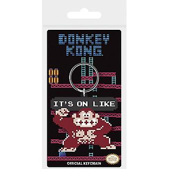 Donkey Kong It's On Like Rubber Sleutelhanger