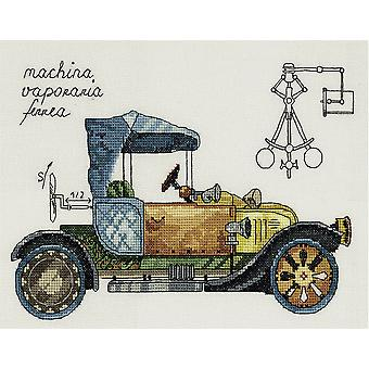 Panna Cross Stitch Kit - Clockwork Vehicle