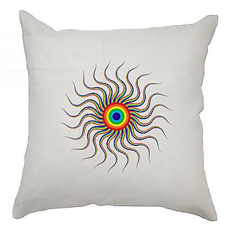 Colourful Cushion Cover 40cm x 40cm - Colourful Circle 1