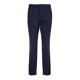 Brunello Cucinelli M289le1450c2517 Men's Blue Cotton Pants