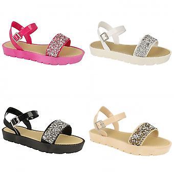 Savannah mujeres/damas brillo Mule tobillo sandalias