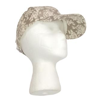 Arianna by Howard's Floral Printed Baseball Cap Beige Hat