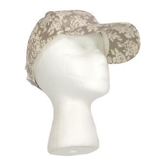 أريانا من قبل هوارد & أبوس؛ق الأزهار المطبوعة البيسبول قبعة البيج