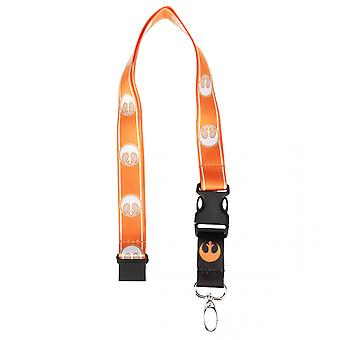 Star Wars Rebel Repitiendo Logo Lanyard