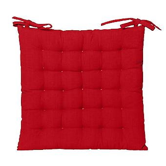 Outdoor Solid Chair Pad 40x40cm Red