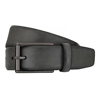 Strellson belts men's belts leather leather belt grey 7570