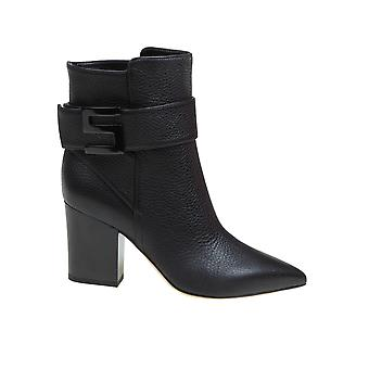 Sergio Rossi A89080mmvr131000 Femmes's Bottes en cuir noir
