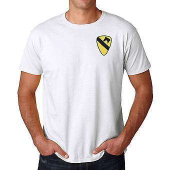 L'armée américaine 1ère cavalerie insigne brodé Logo - coton Ringspun T Shirt