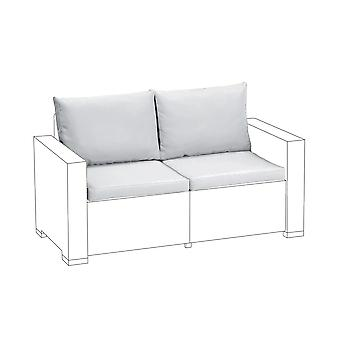 Gris 4pc cojines de asiento set para Keter Allibert California sofá de 2 plazas