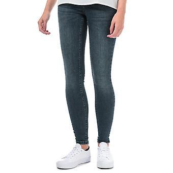Frauen's Vero Moda Lux Mid Rise Super Slim Jeans in Blau