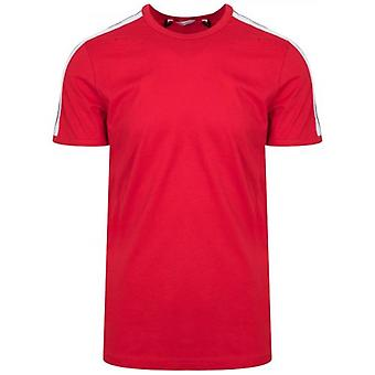 Antony Morato Crew Neck Red Shoulder Taped T-Shirt