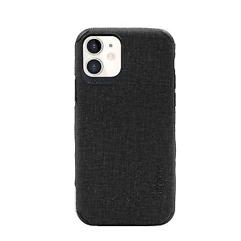 For iPhone 11 Case Fabric Texture Denim Slim Fashionable Protective Cover Black