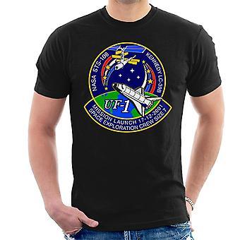NASA STS 108 Endeavour Crew Badge Men's T-Shirt
