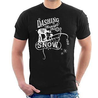 Star Wars Natal arrojado através da neve men 's T-Shirt