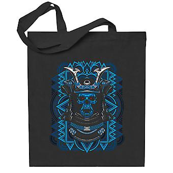 Samurai Negative Skull Abstract Totebag