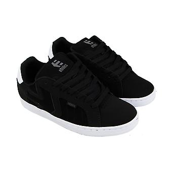 Etnies Fader 2 Mens Black Suede Low Top Lace Up Skate Sneakers Shoes