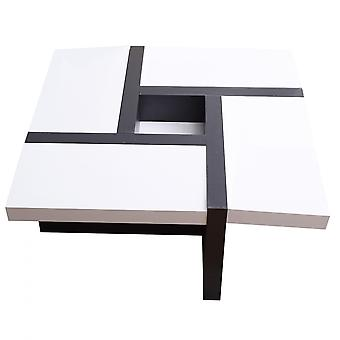 Rebecca Furniture Table Black White Furniture Modern 35x80x80