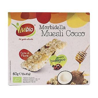 Soft coconut granola bar 3 bars of 20g