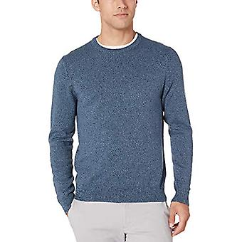 Essentials Men's Crewneck Sweater Sweater, -Navy Space-Dye, Large