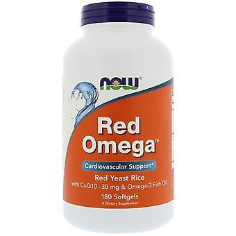 Jetzt Lebensmittel, Red Omega, Roter Hefereis mit CoQ10, 30 mg, 180 Softgels