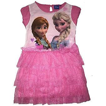 Disney congelado chicas Elsa y Ana disfraces manga corta