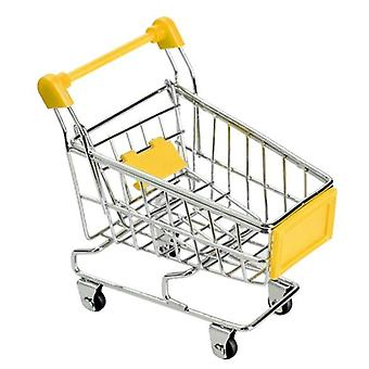 Supermarket Hand Trolley- Mini Shopping Cart Desktop Decoration Storage,