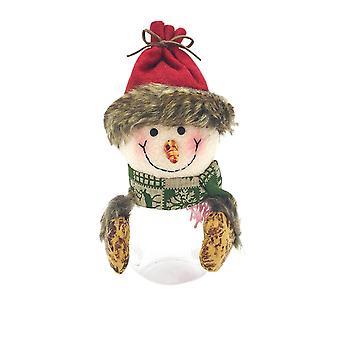 Christmas Candy Storage Jar Candy Snacks Box Snowman
