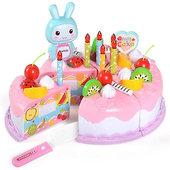 Diy  Set Of  Pretend Play Fruit Cake Toy