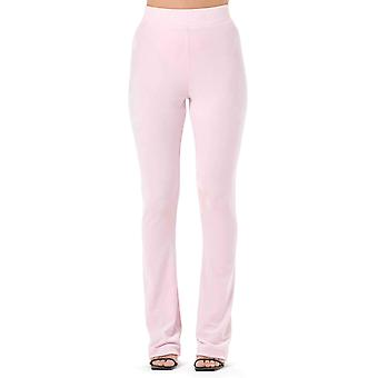 Juicy Couture Freya Diamante Flared Velour Bottoms Pink 37