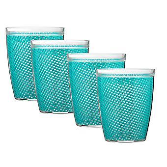 Fishnet 14 Oz Sarcelle Doublewall Drinkware Set/4